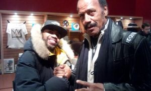 """Me and Fred """"The Hammer"""" Williamson before his screening of the 70's film """"Boss Nigger"""" This man is the DEFINITION of COOL!"""